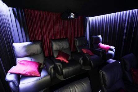 Vorhangstoff Kino rot